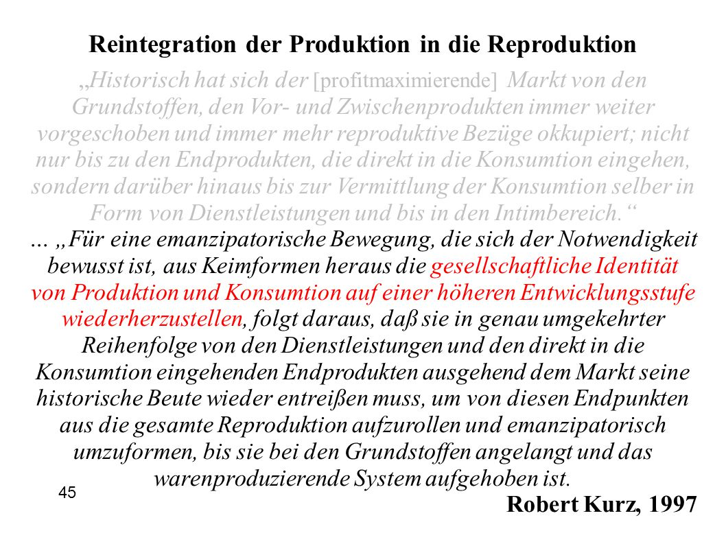 Reintegration der Produktion in die Reproduktion