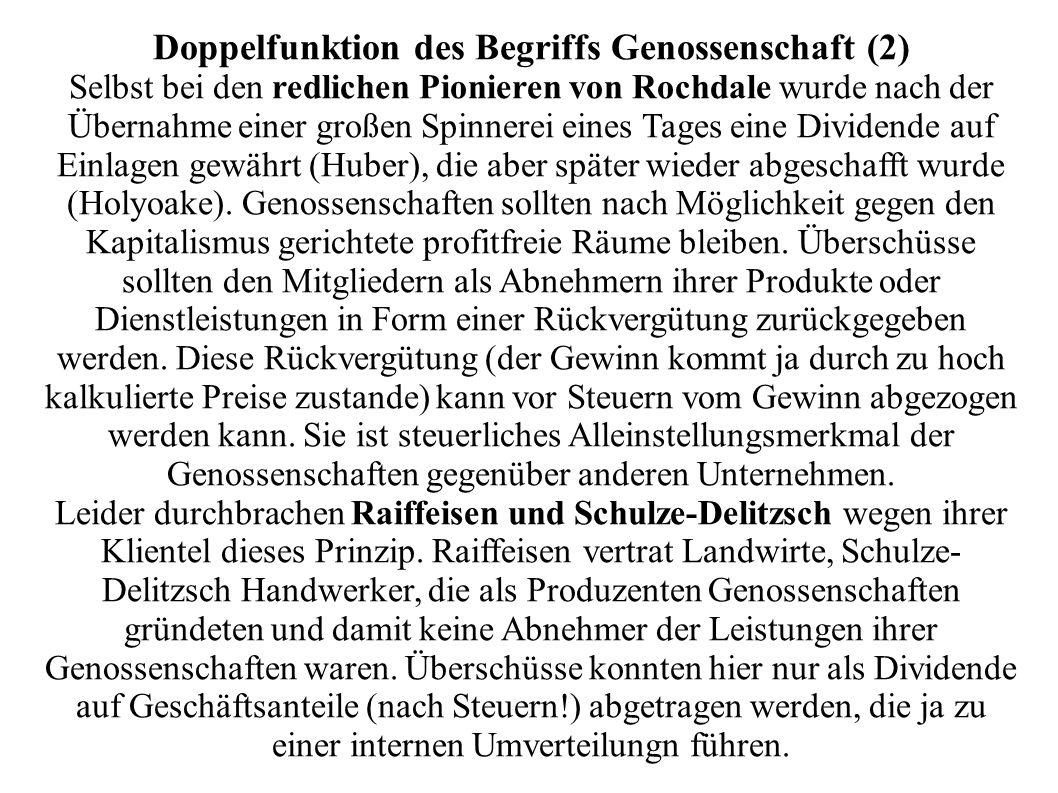 Doppelfunktion des Begriffs Genossenschaft (2)