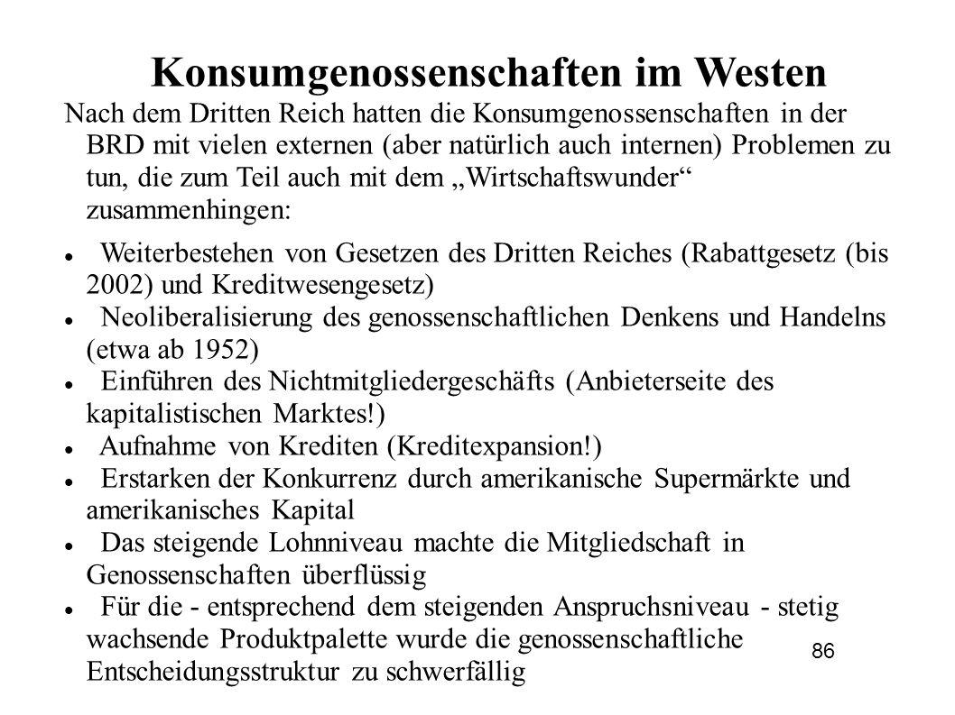 Konsumgenossenschaften im Westen