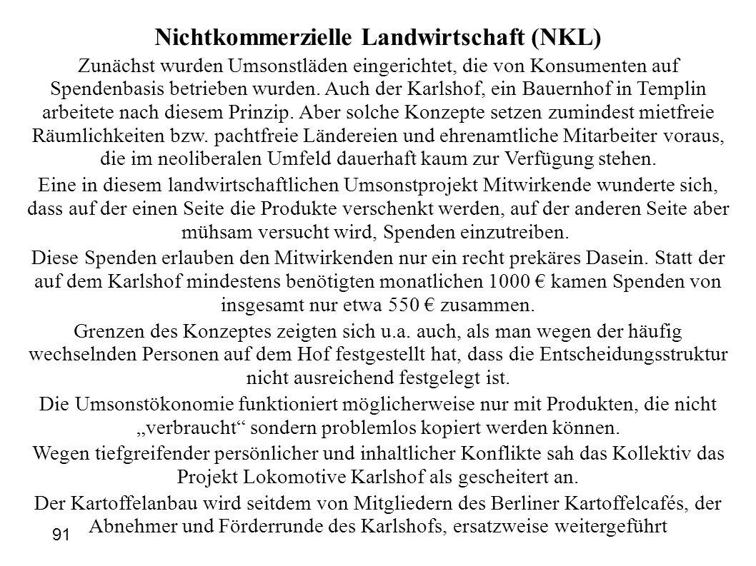 Nichtkommerzielle Landwirtschaft (NKL)