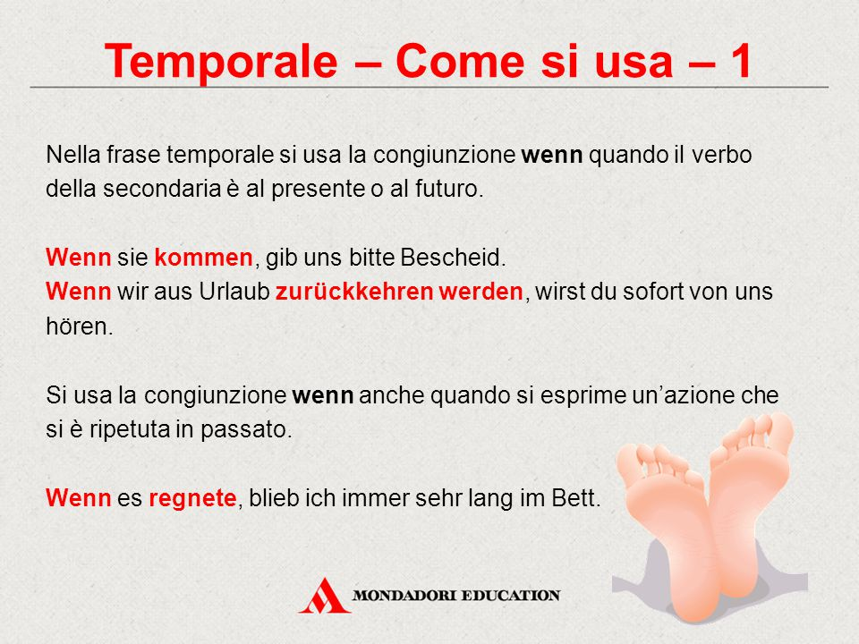 Temporale – Come si usa – 1