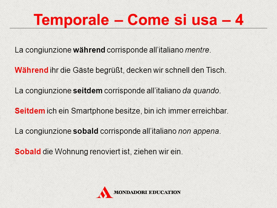 Temporale – Come si usa – 4