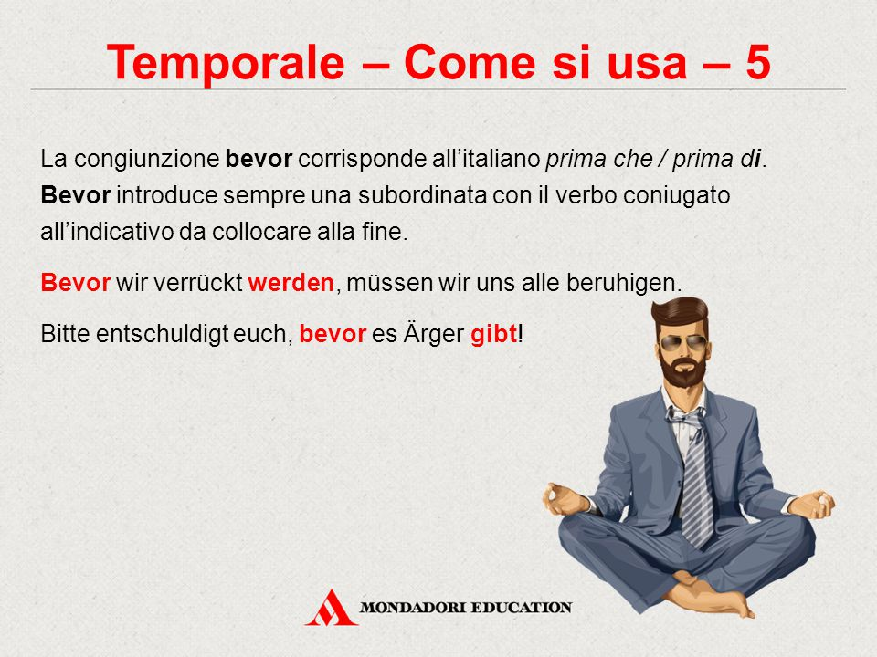 Temporale – Come si usa – 5