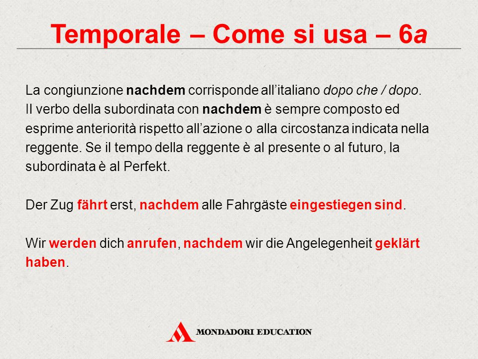 Temporale – Come si usa – 6a