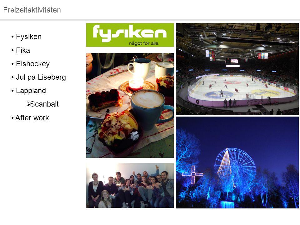 Freizeitaktivitäten Fysiken Fika Eishockey Jul på Liseberg Lappland