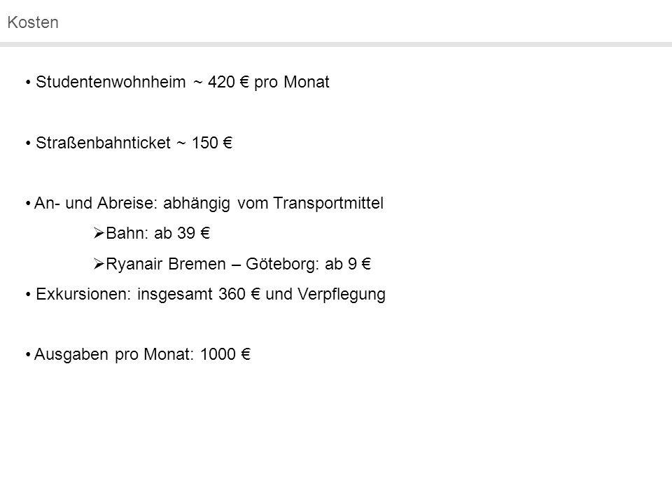 Studentenwohnheim ~ 420 € pro Monat