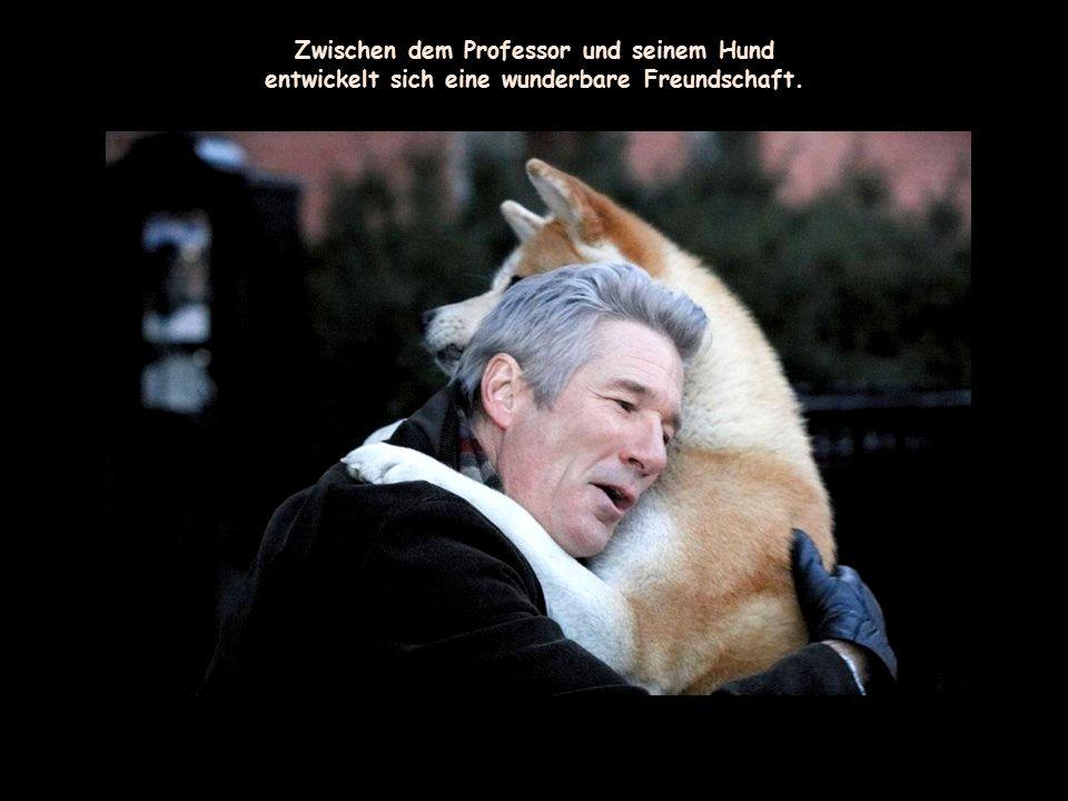 Zwischen dem Professor und seinem Hund
