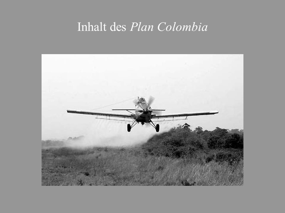 Inhalt des Plan Colombia