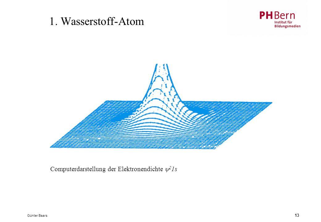 1. Wasserstoff-Atom Computerdarstellung der Elektronendichte 21s