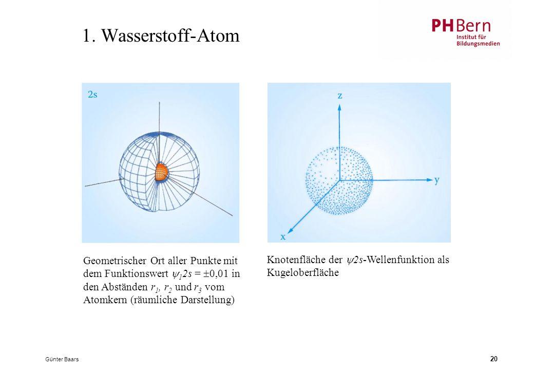 1. Wasserstoff-Atom Geometrischer Ort aller Punkte mit