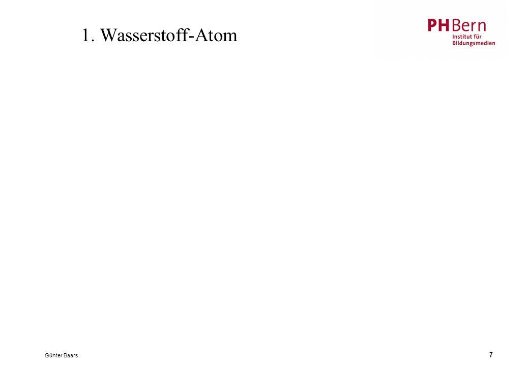 1. Wasserstoff-Atom Günter Baars