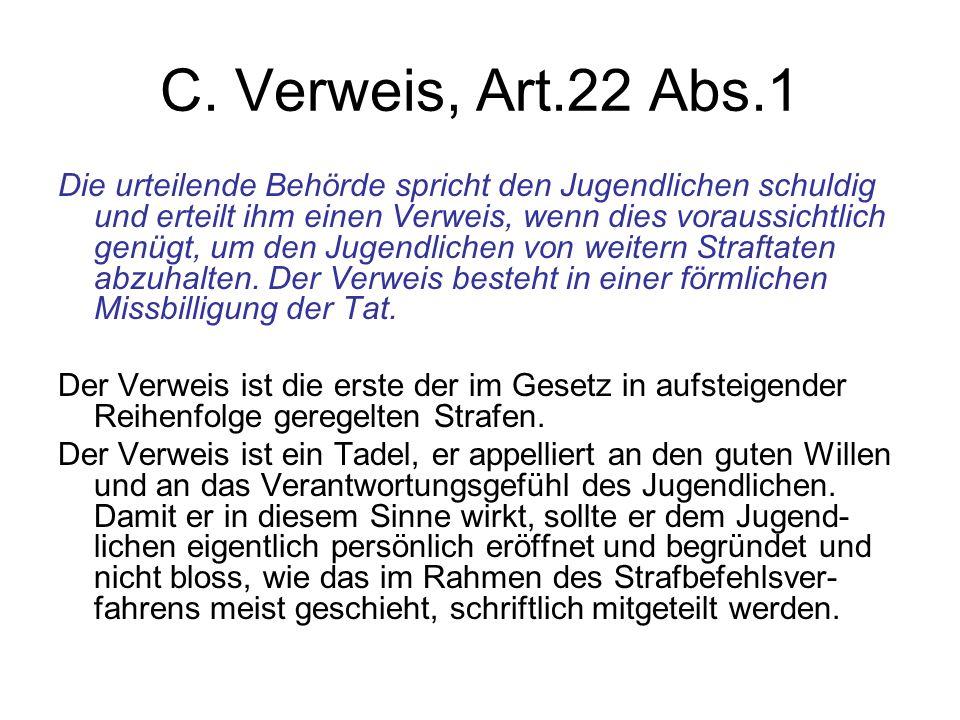 C. Verweis, Art.22 Abs.1
