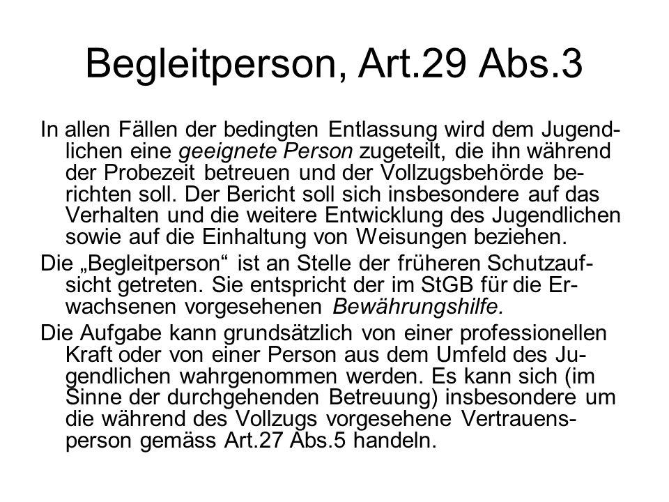 Begleitperson, Art.29 Abs.3