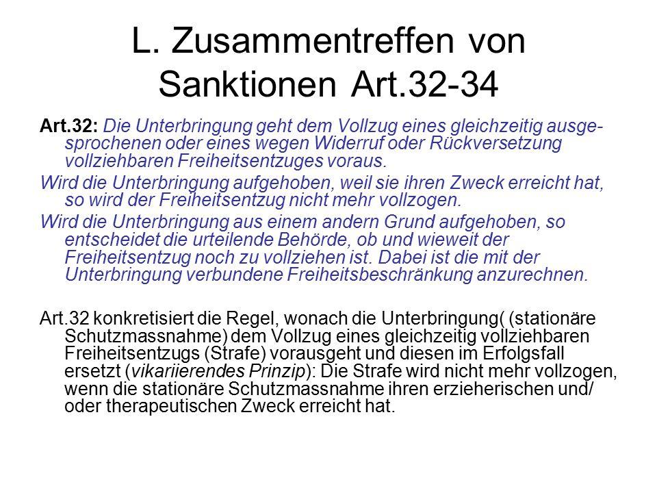 L. Zusammentreffen von Sanktionen Art.32-34