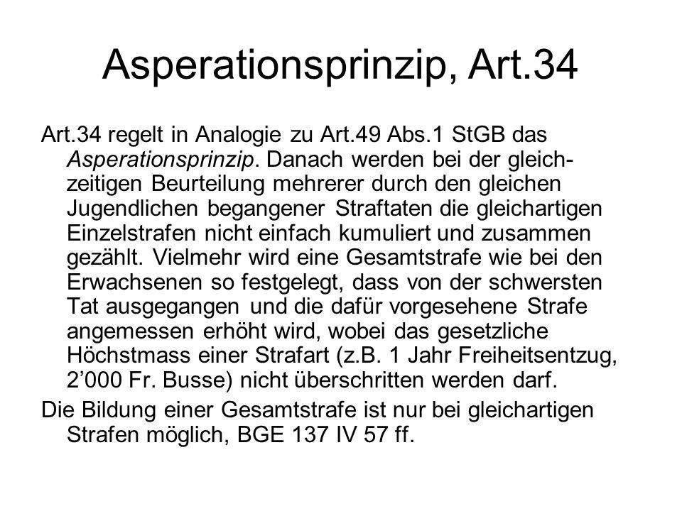 Asperationsprinzip, Art.34