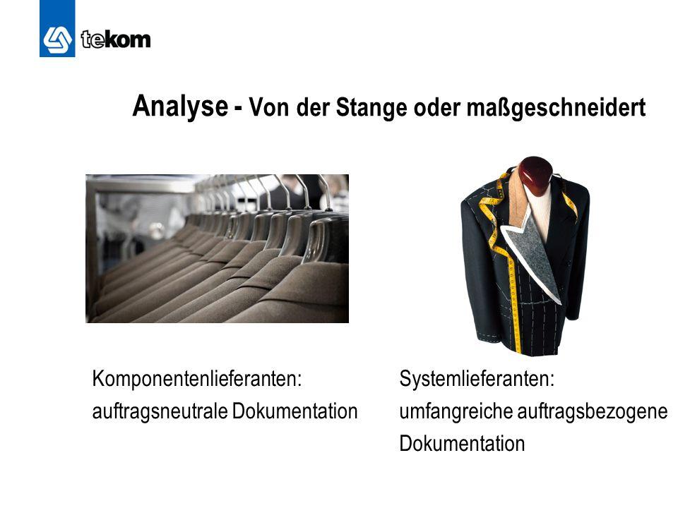 Analyse - Von der Stange oder maßgeschneidert