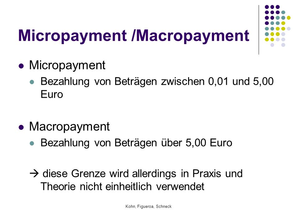 Micropayment /Macropayment