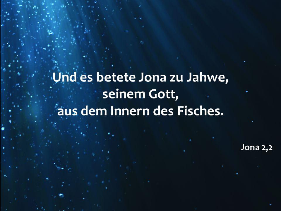 Und es betete Jona zu Jahwe,