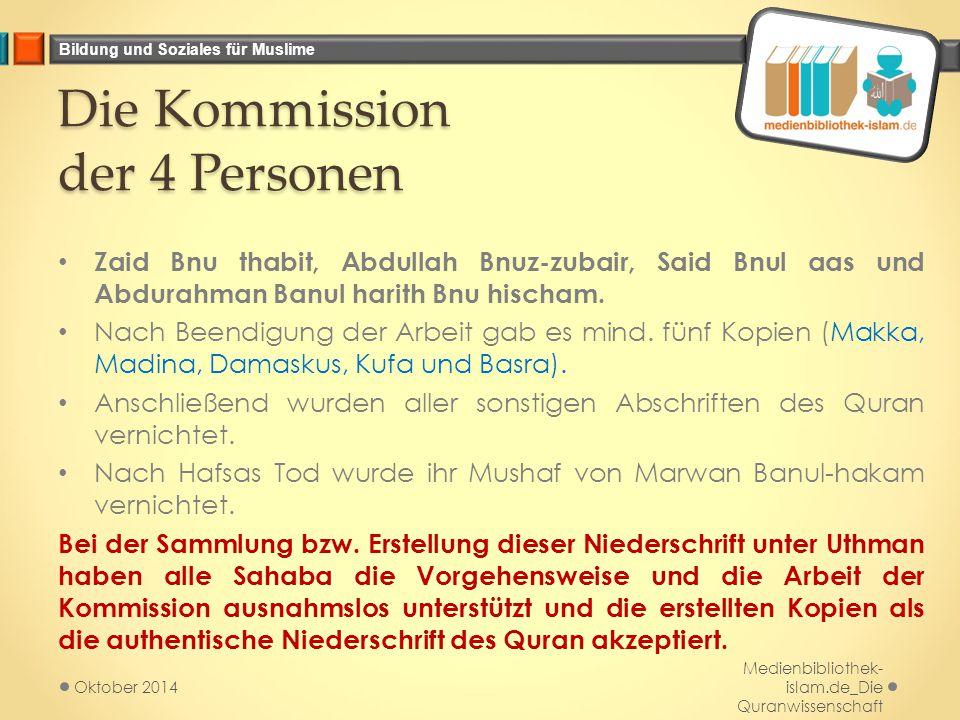 Die Kommission der 4 Personen