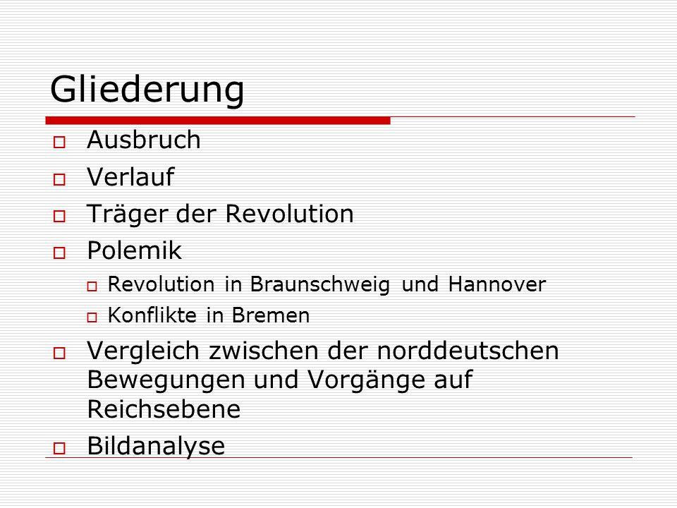 Gliederung Ausbruch Verlauf Träger der Revolution Polemik