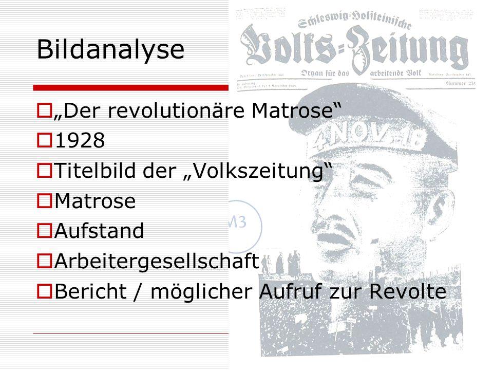 "Bildanalyse ""Der revolutionäre Matrose 1928"