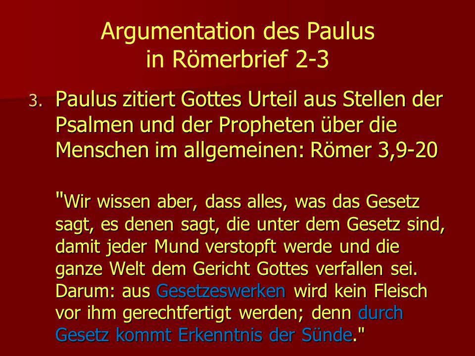 Argumentation des Paulus in Römerbrief 2-3