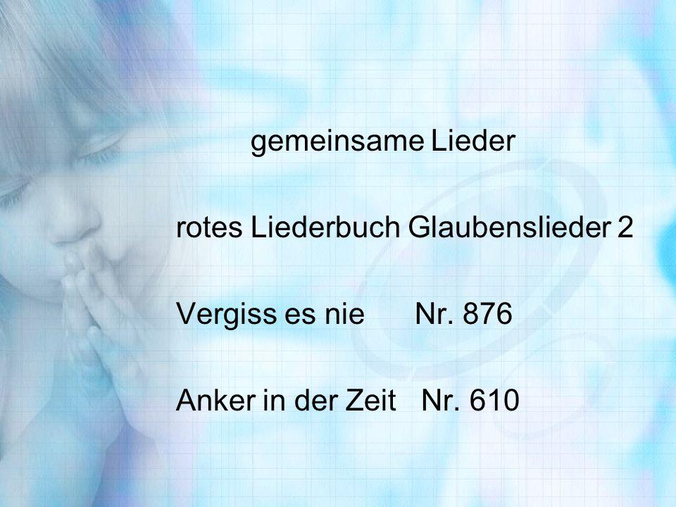 gemeinsame Lieder rotes Liederbuch Glaubenslieder 2.