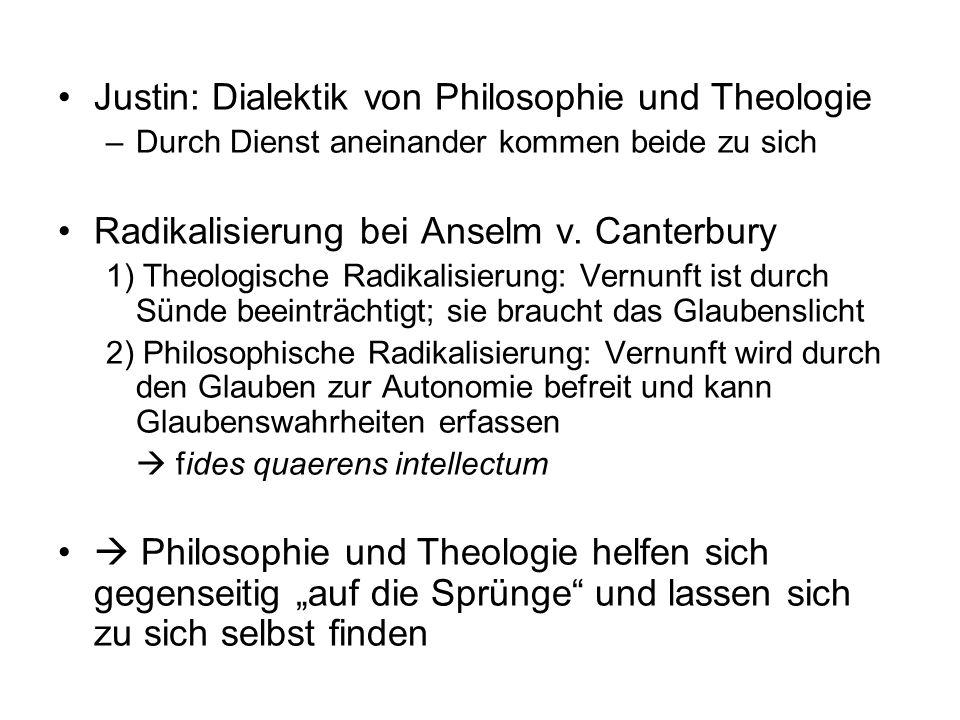 Justin: Dialektik von Philosophie und Theologie