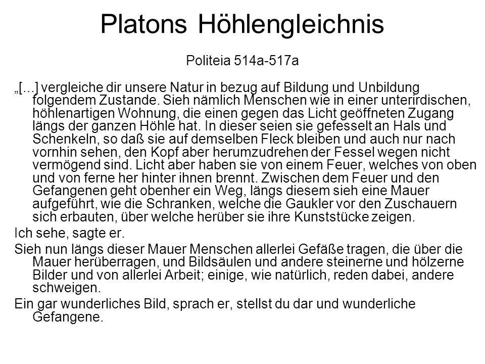 Platons Höhlengleichnis Politeia 514a-517a
