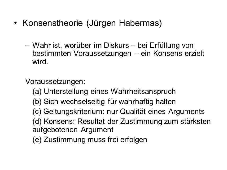 Konsenstheorie (Jürgen Habermas)