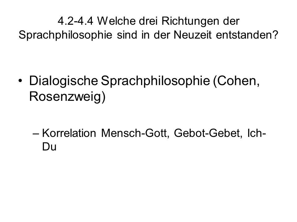 Dialogische Sprachphilosophie (Cohen, Rosenzweig)