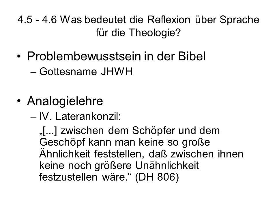 4.5 - 4.6 Was bedeutet die Reflexion über Sprache für die Theologie