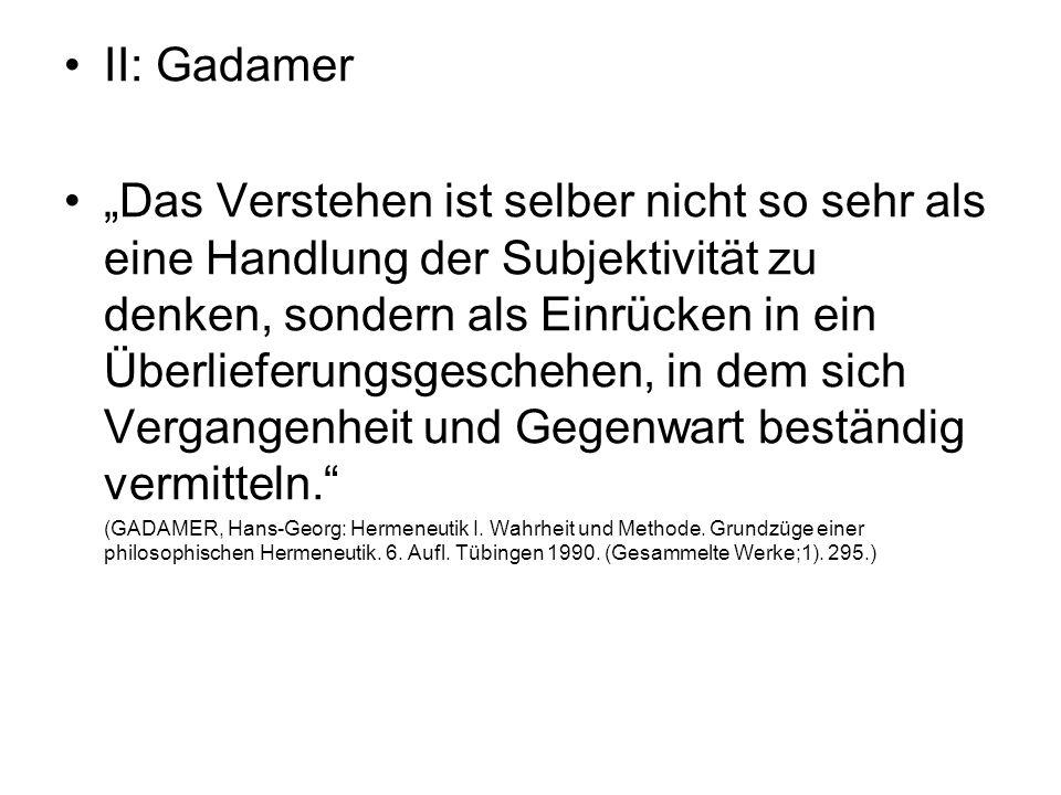 II: Gadamer