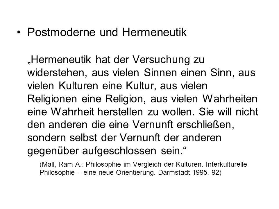 Postmoderne und Hermeneutik
