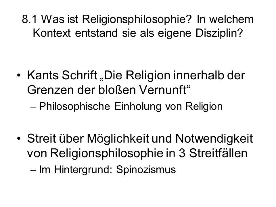 """Kants Schrift """"Die Religion innerhalb der Grenzen der bloßen Vernunft"""