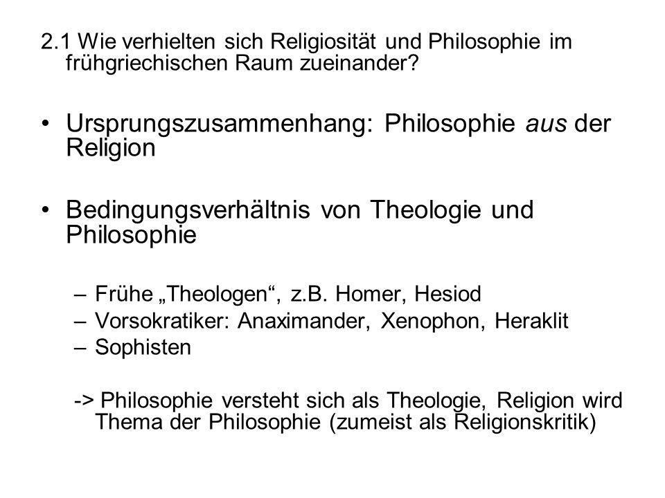 Ursprungszusammenhang: Philosophie aus der Religion
