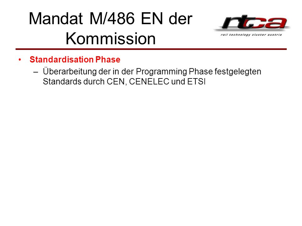Mandat M/486 EN der Kommission
