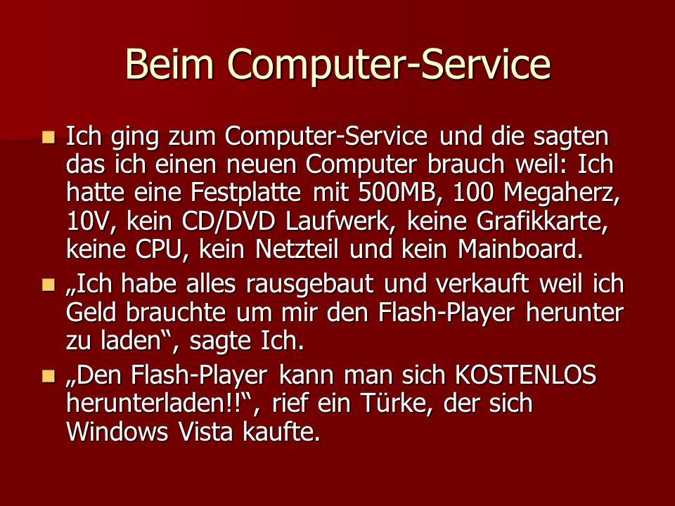 Beim Computer-Service