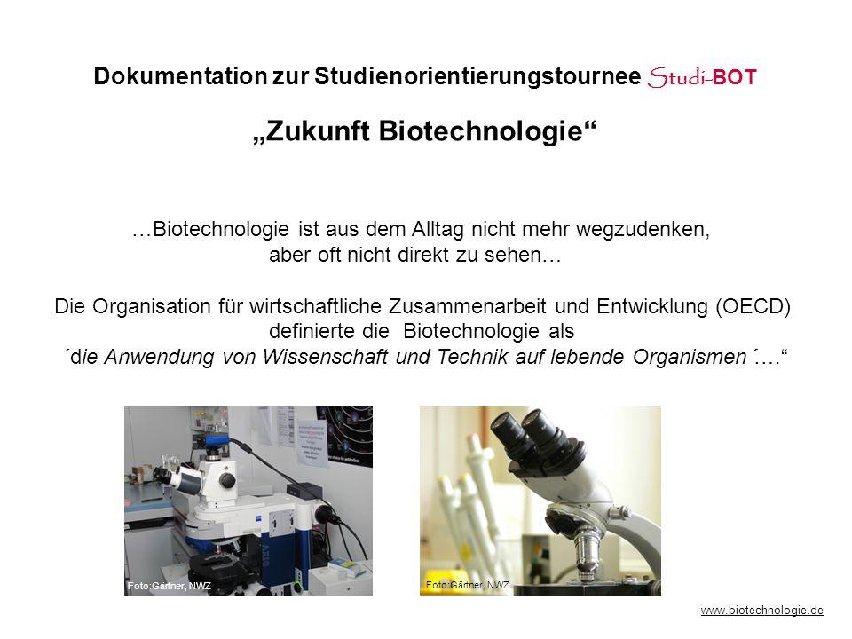Dokumentation zur Studienorientierungstournee Studi-BOT