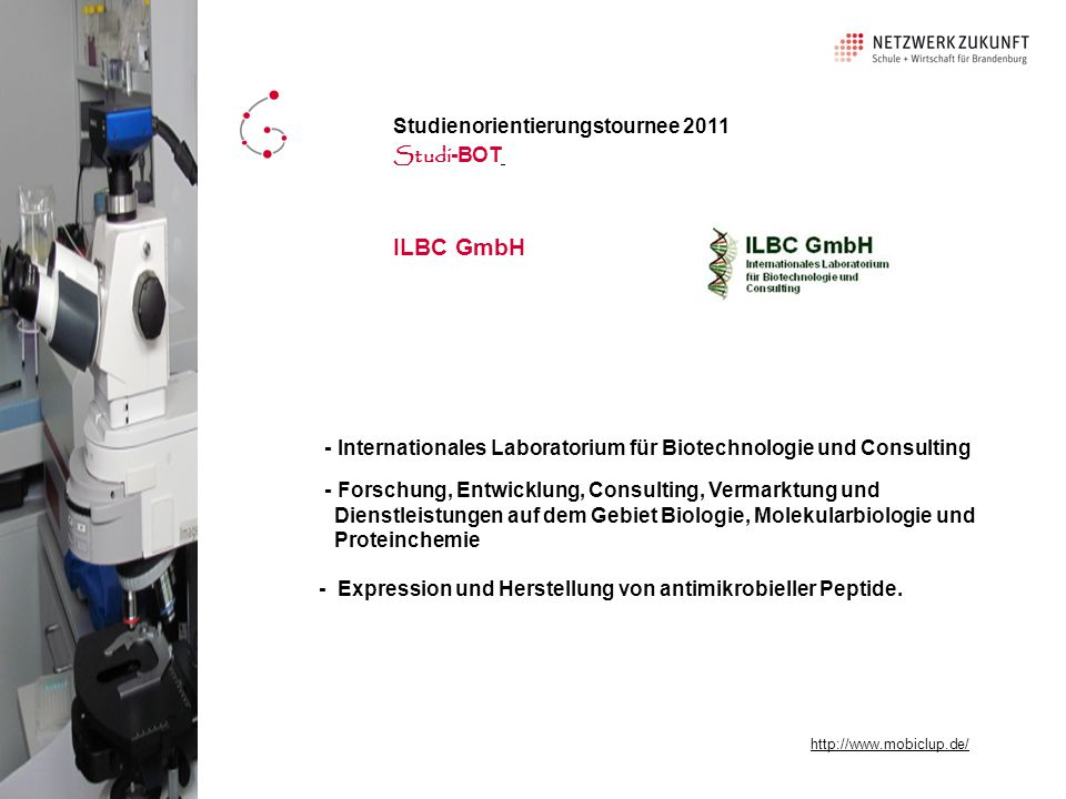 ILBC GmbH Studienorientierungstournee 2011 Studi-BOT