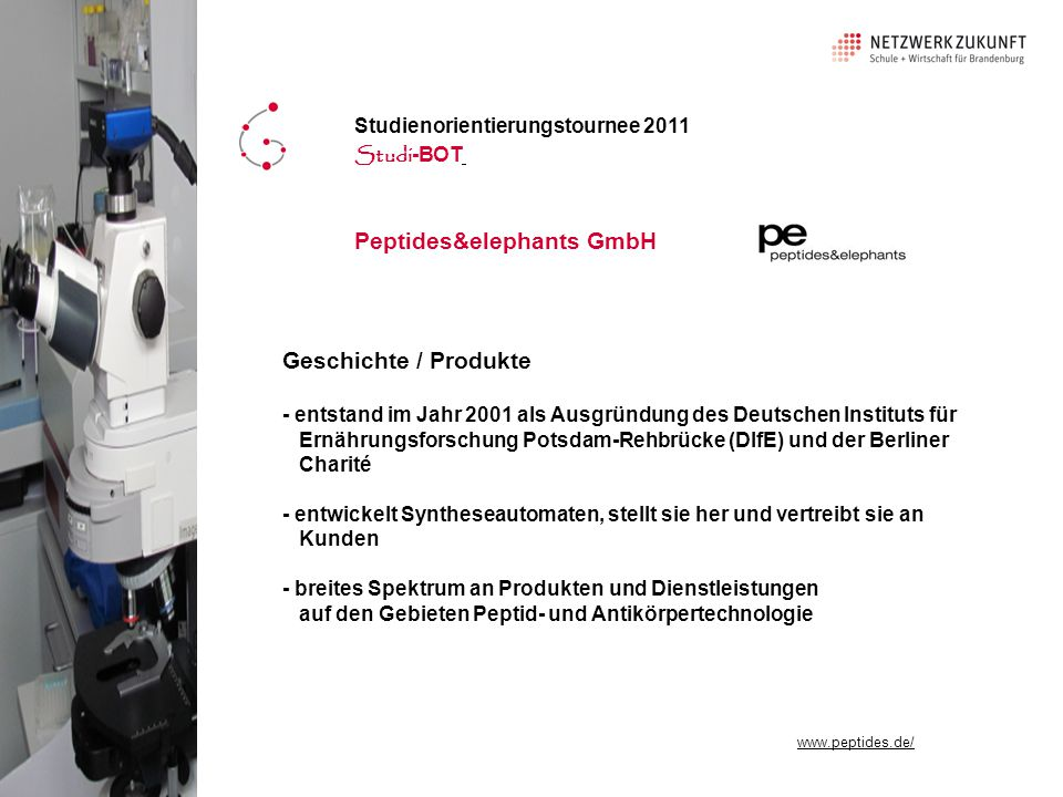 Peptides&elephants GmbH