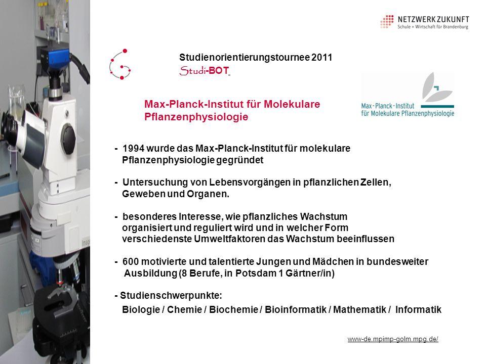 Max-Planck-Institut für Molekulare Pflanzenphysiologie