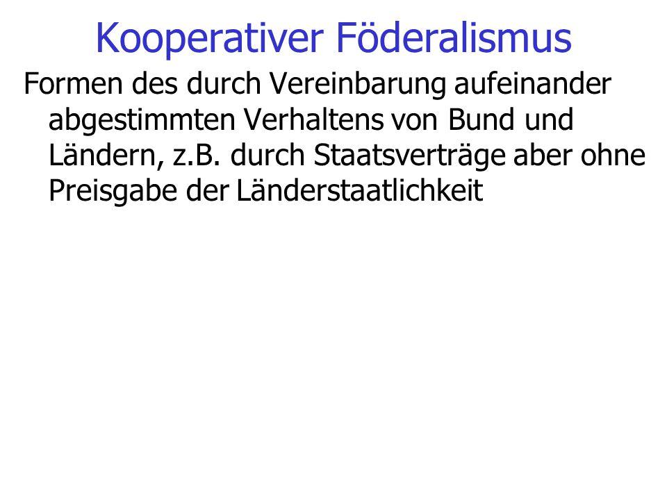 Kooperativer Föderalismus