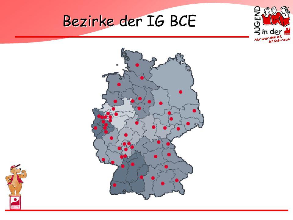 Bezirke der IG BCE