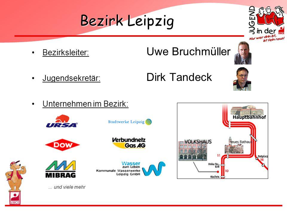 Bezirk Leipzig Bezirksleiter: Uwe Bruchmüller