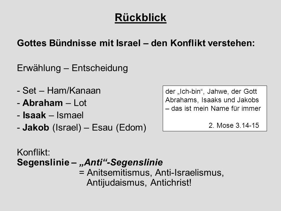 Rückblick Gottes Bündnisse mit Israel – den Konflikt verstehen: