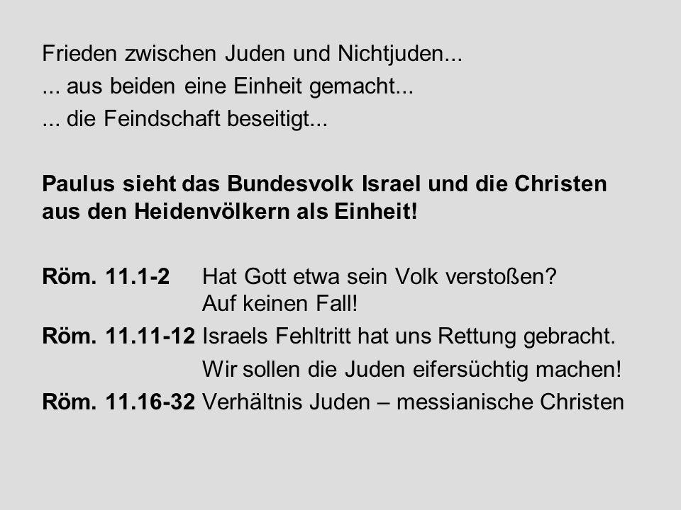 Frieden zwischen Juden und Nichtjuden...