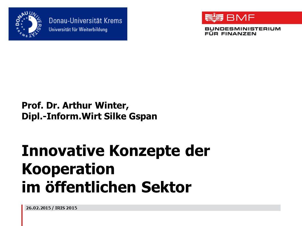 Innovative Konzepte der Kooperation im öffentlichen Sektor