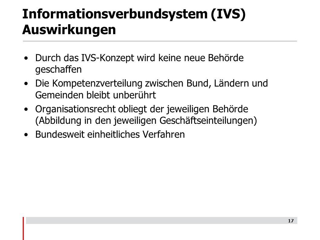 Informationsverbundsystem (IVS) Auswirkungen