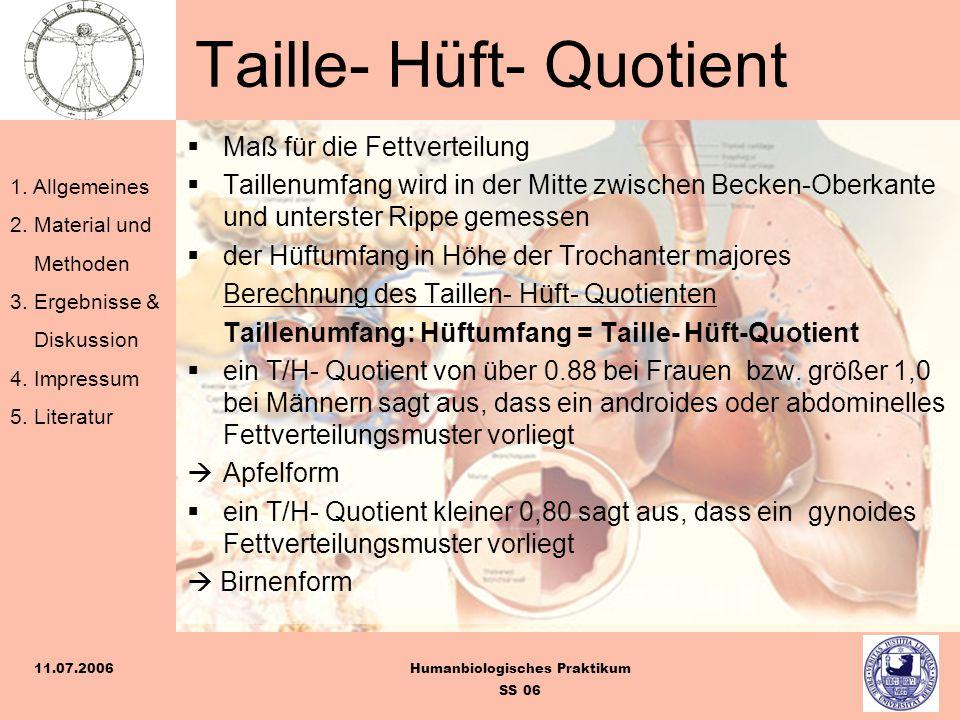 Taille- Hüft- Quotient